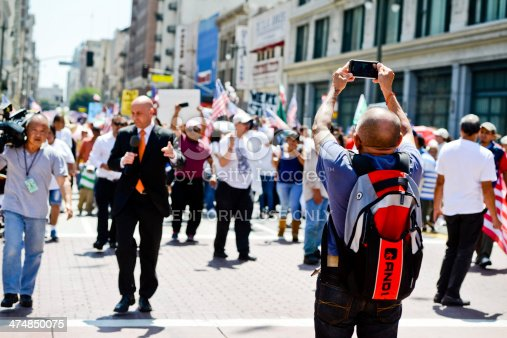 istock May Day March in Los Angeles Downtown, USA 474850075