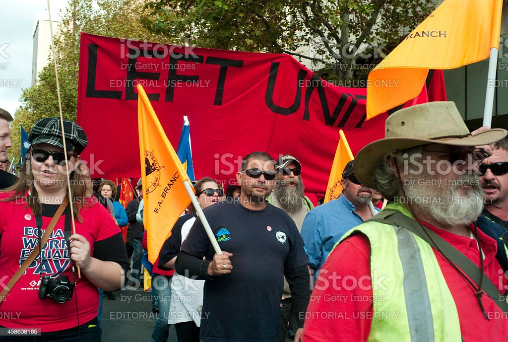 May Day March stock photo