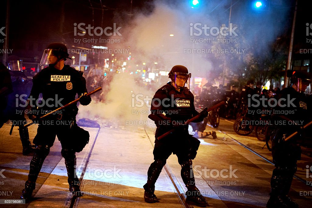 May Day Protests stock photo