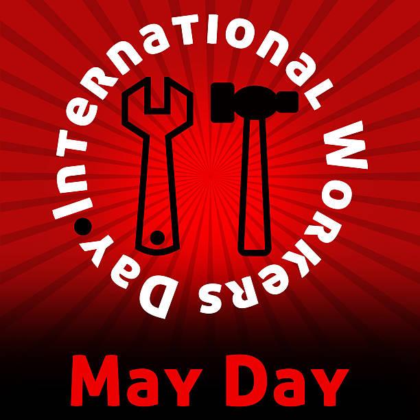 1 er mai rouge noir éclatant - 1er mai photos et images de collection