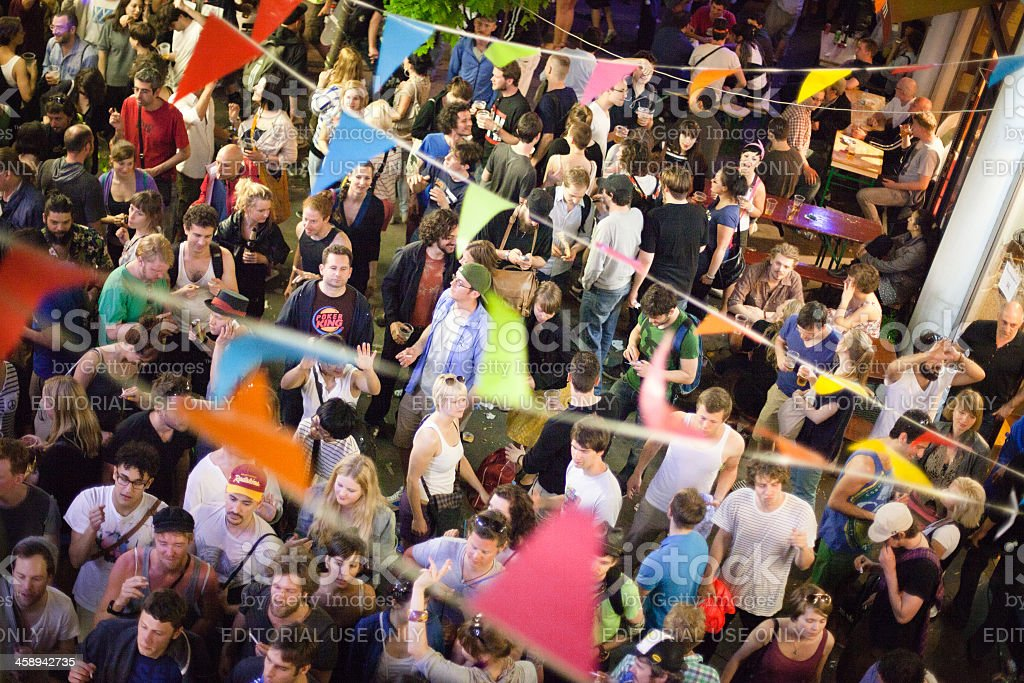 May day street party stock photo