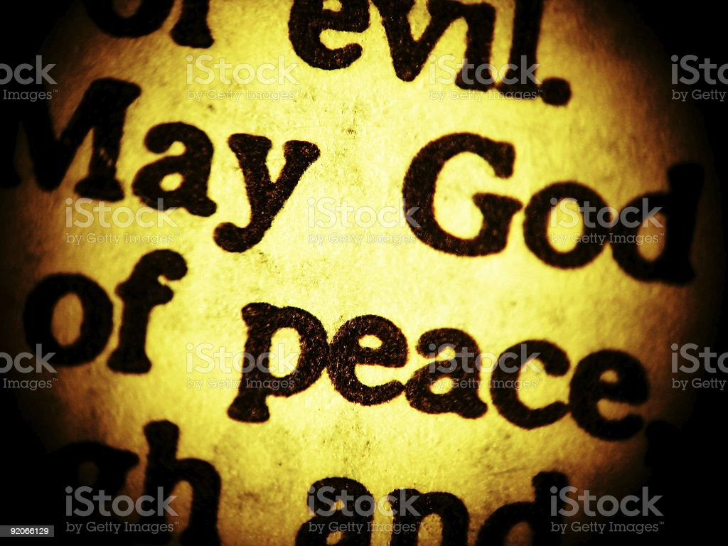 May God of peace... - close up royalty-free stock photo