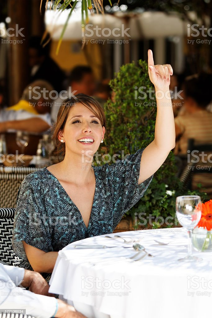 May I have the bill, please? stock photo