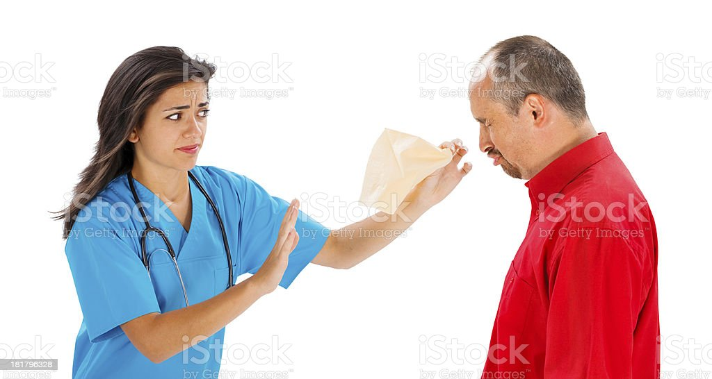 May I Help You With A Tissue, Mr? royalty-free stock photo