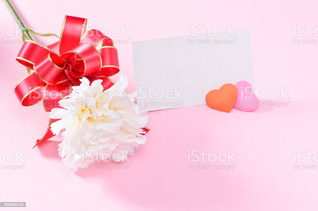 May Mother\'s Day Carnation Bunch of Flowers Bouquet with Gift Card...