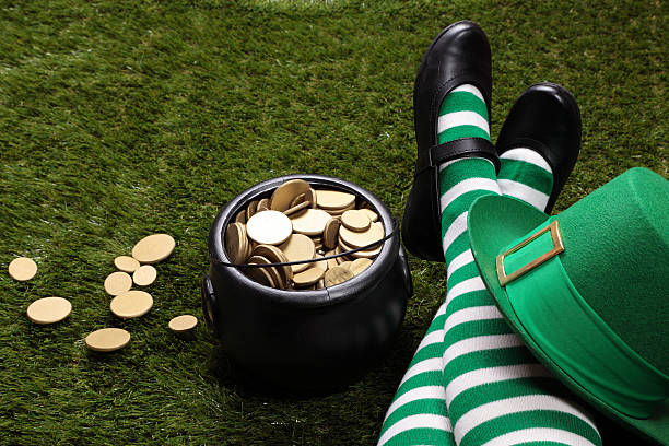 may the luck of the irish be with you! - luck of the irish stock photos and pictures