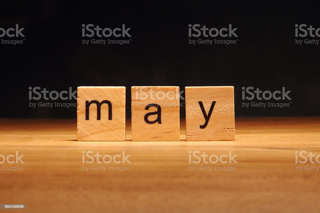 May wooden blocks. stock photo