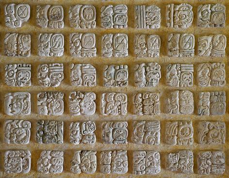 The Mayan alphabet.