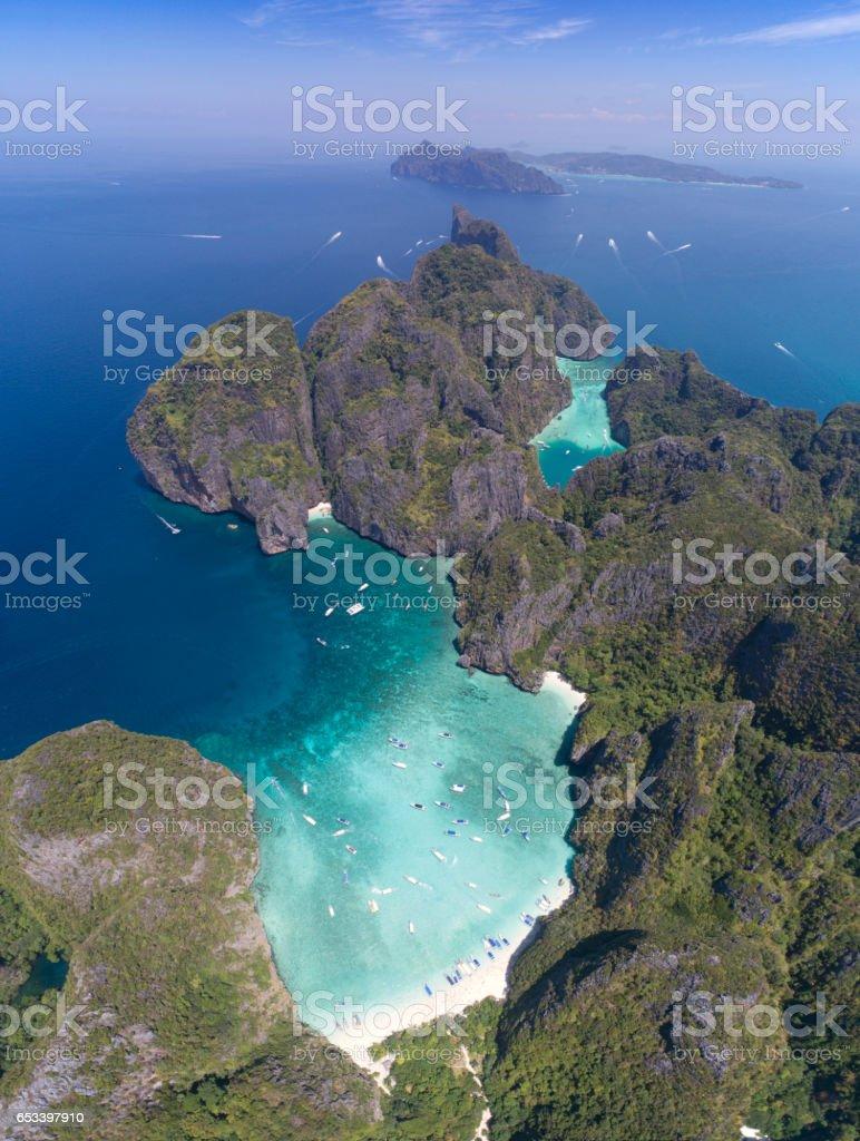 Maya Bay, Ko Phi Phi Leh, Thailand stock photo
