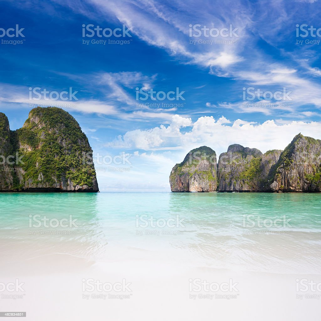 Maya Bay Ko PhiPhi Le royalty-free stock photo