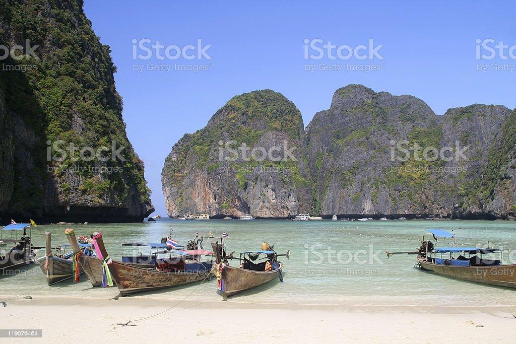 Maya Bay, Krabi, Thailand royalty-free stock photo