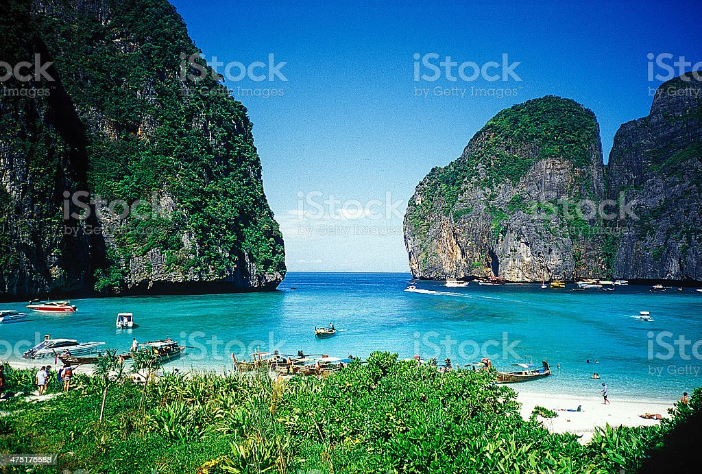 Maya Bay of Phi Phi Island stock photo