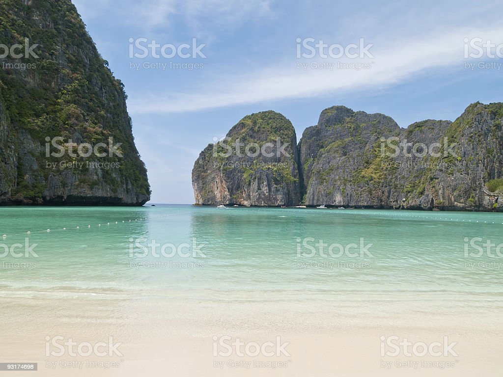 Maya Beach, Ko Phi-Phi, Thailand stock photo