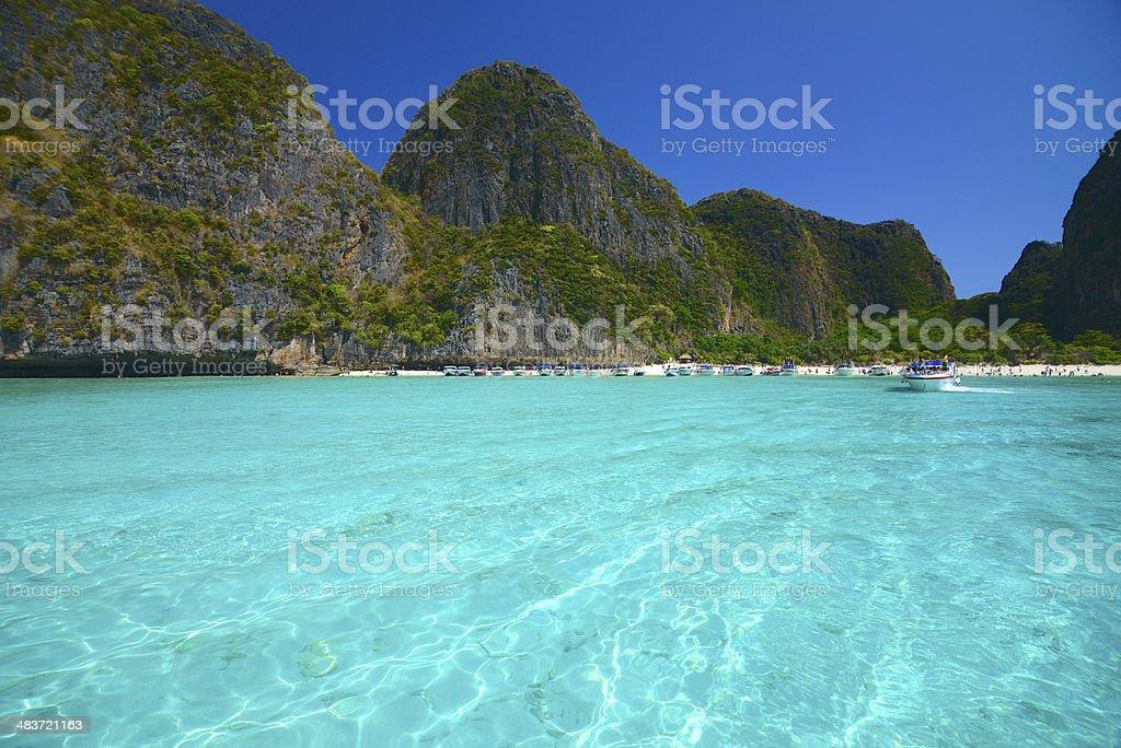 Maya Beach stock photo