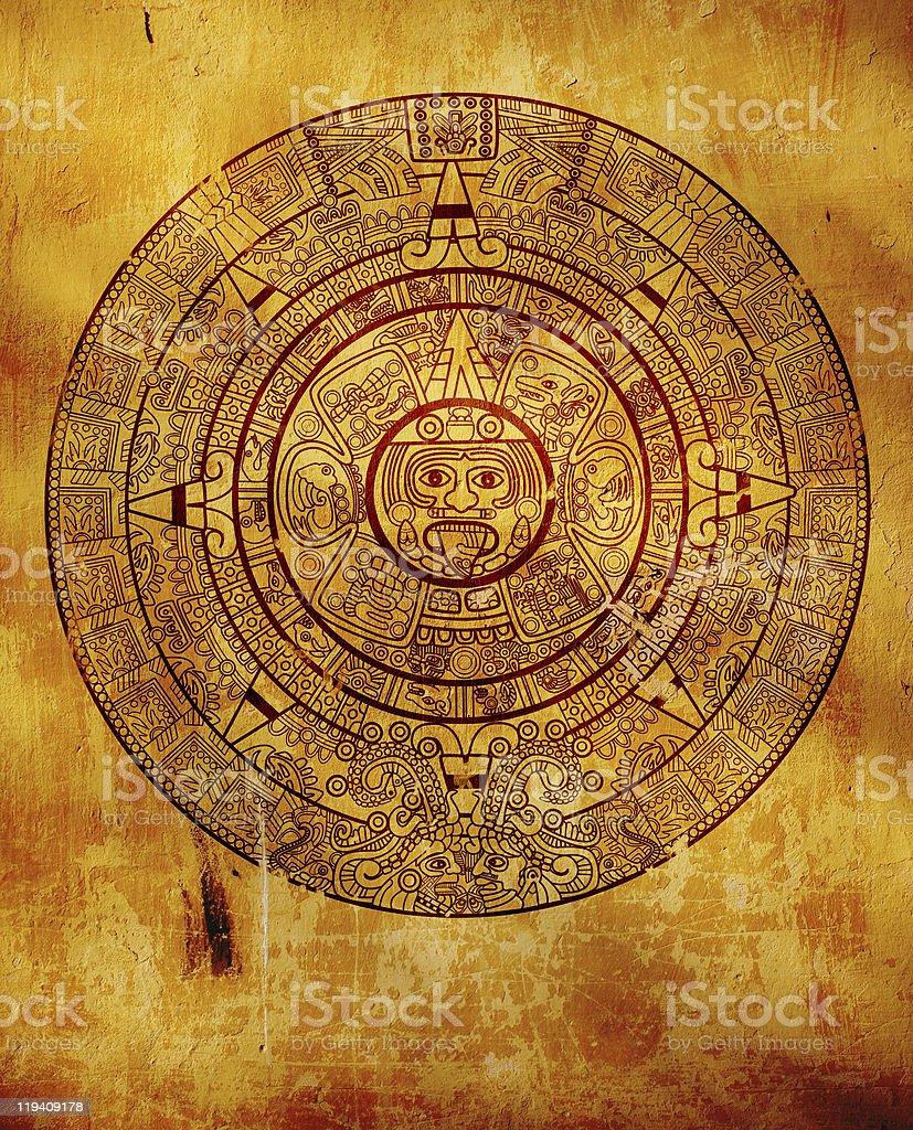 Maya calendar stock photo