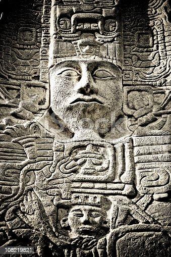 Mayan carving - Yucatan - Mexico