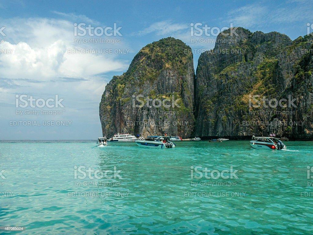 Maya Cove Ko Phi Phi Le stock photo