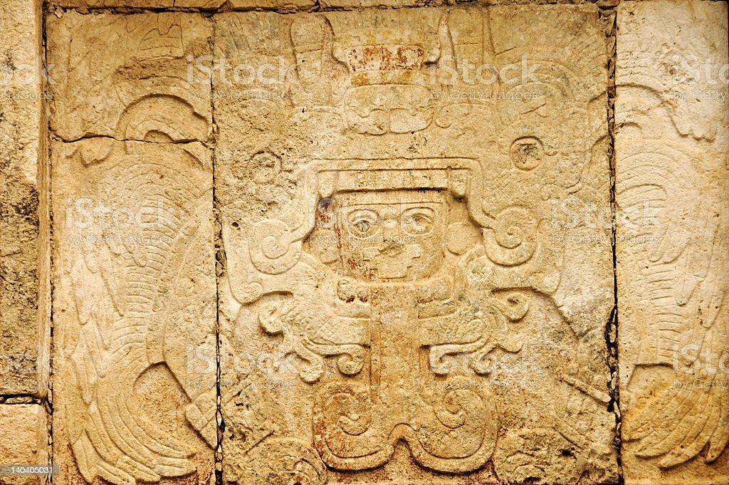Maya hieroglyphs 2 stock photo