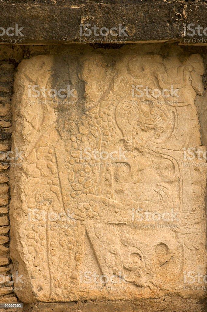 Maya hieroglyphs royalty-free stock photo