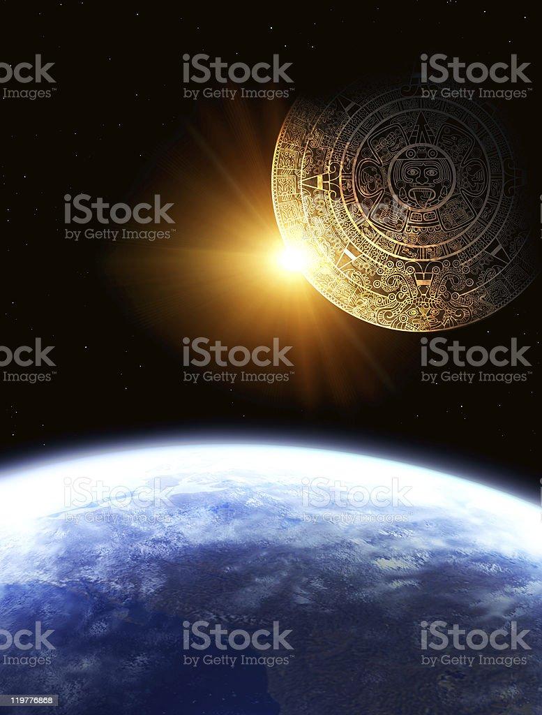 Maya prophecy stock photo