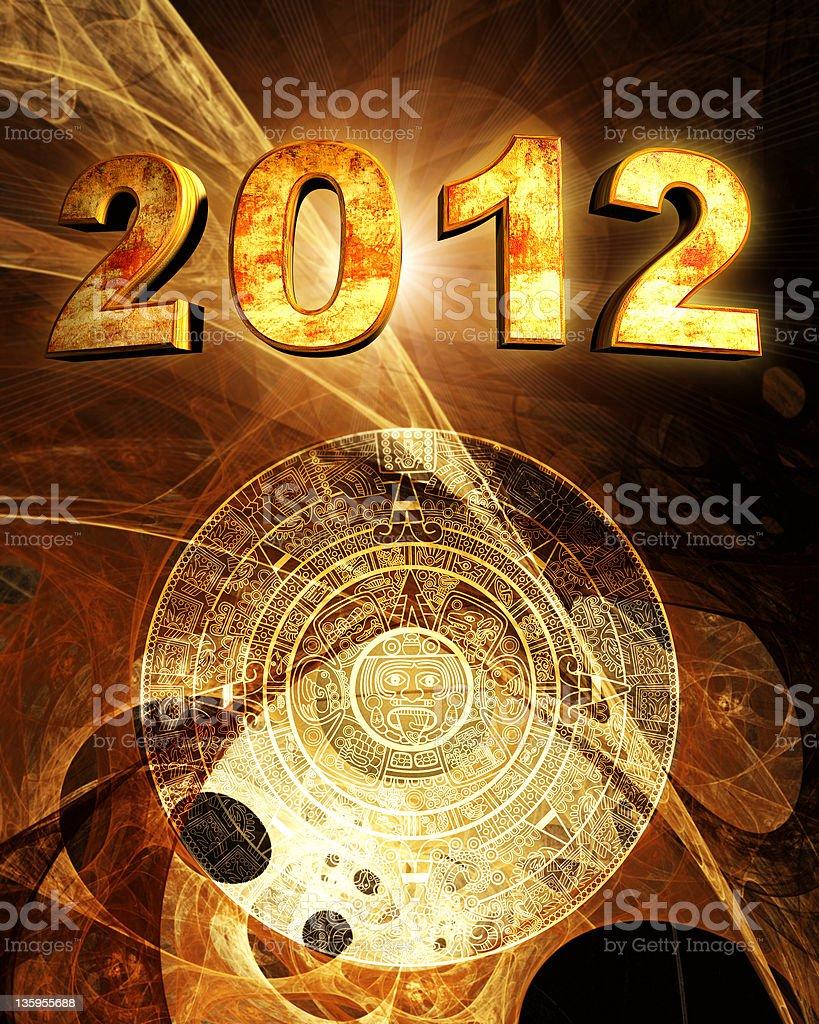 2012. Maya prophecy royalty-free stock photo
