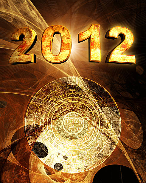 2012. Maya prophecy Vertical background with Maya calendar 2012 stock pictures, royalty-free photos & images