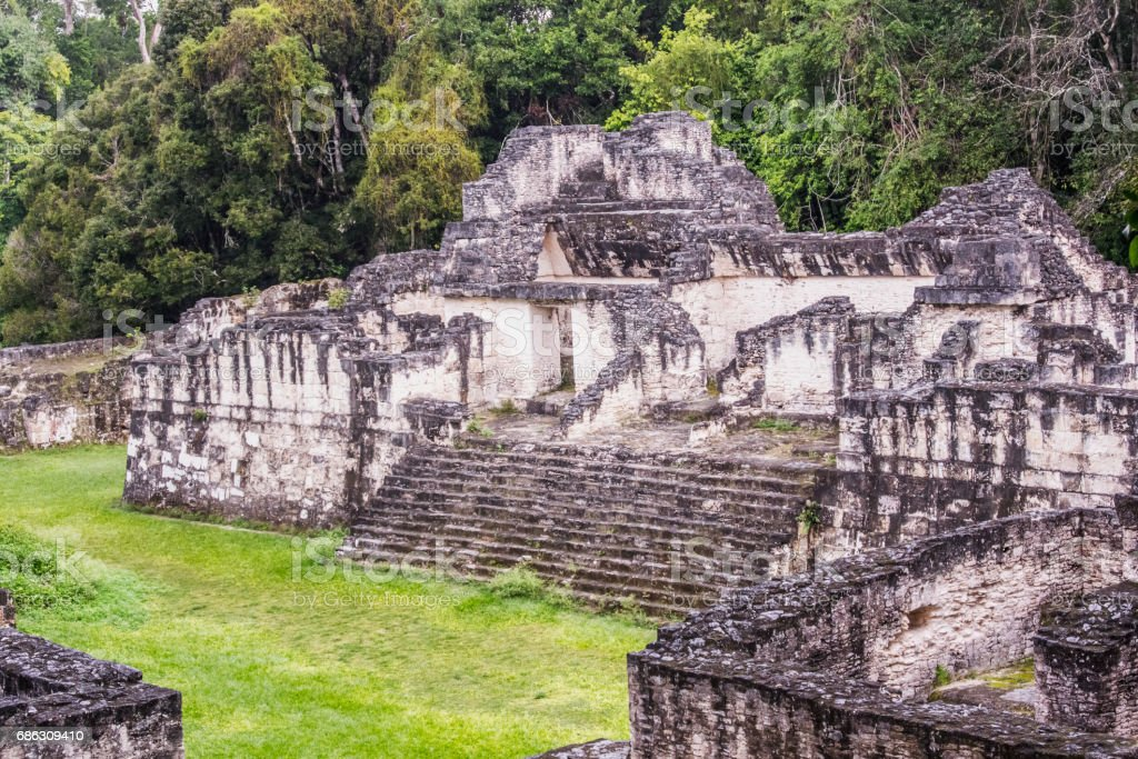 Maya ruins of Tikal, near Flores, Guatemala stock photo
