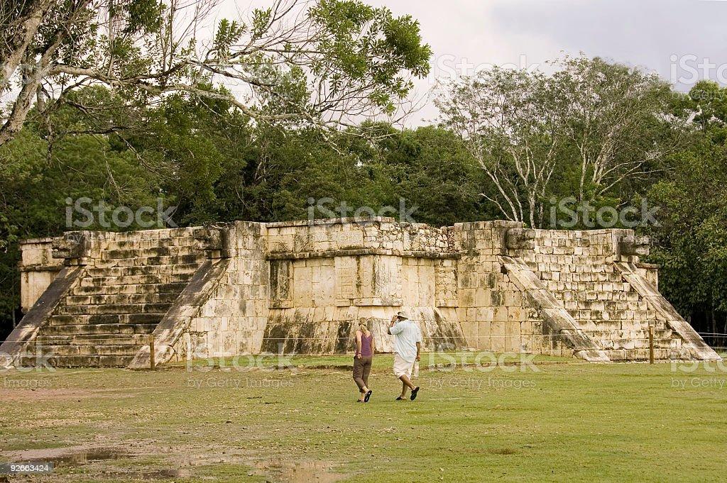 Maya sacrifice temple royalty-free stock photo