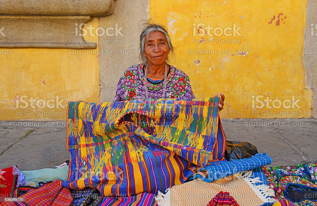 Maya saleswoman stock photo