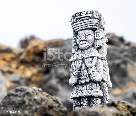 istock Maya Statue 1067630480