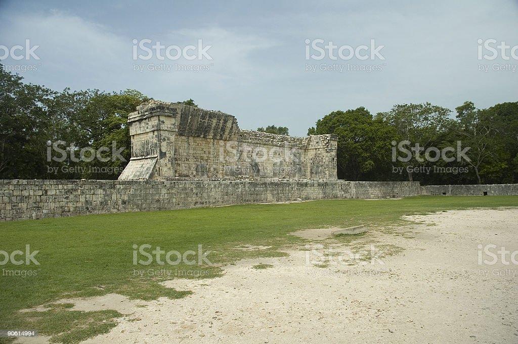 Mayan Ball Game Stadium stock photo
