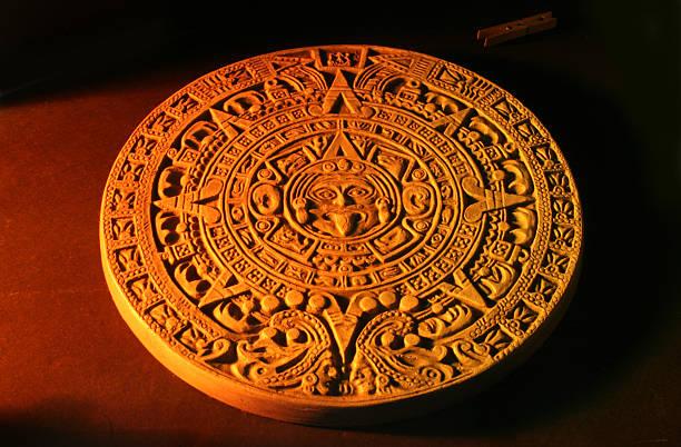 Mayan calendar. stock photo