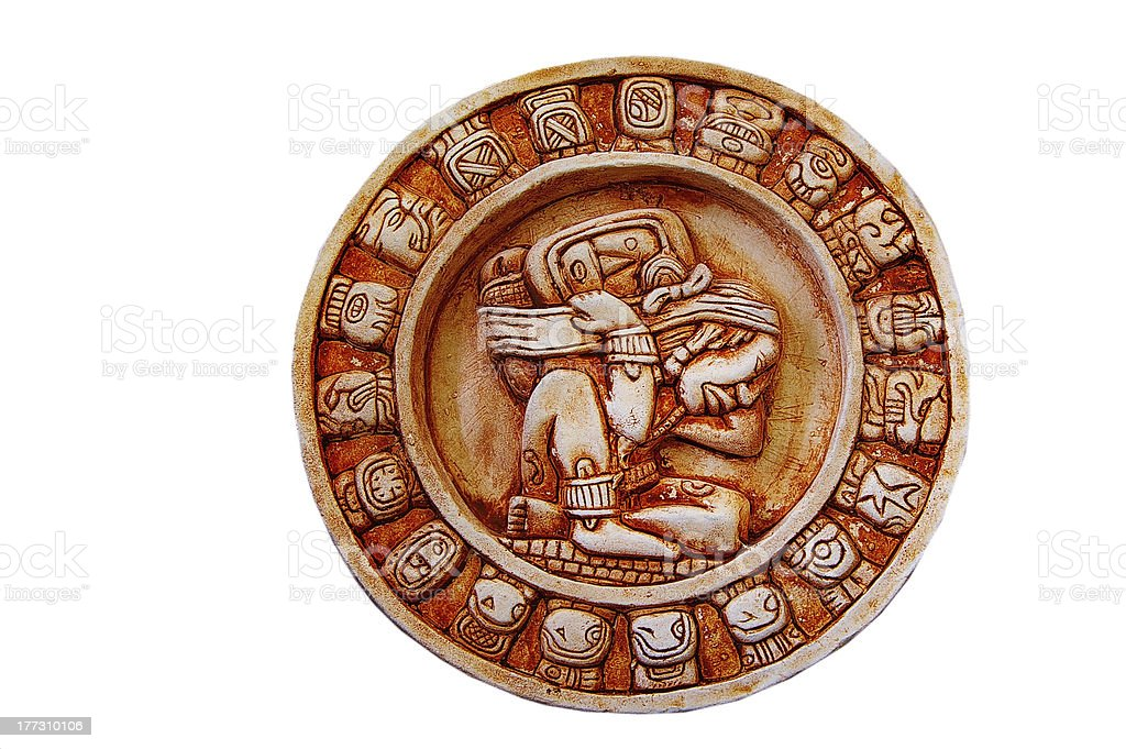 Mayan calendar stock photo