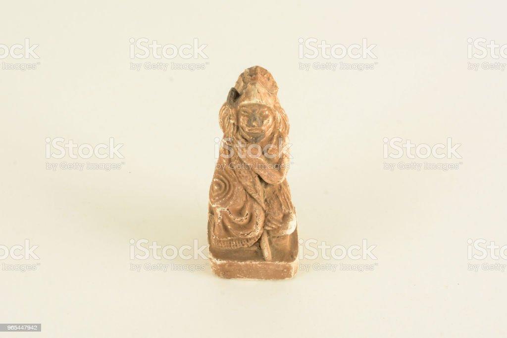 Sculpture à l'argile maya - Photo de Antique libre de droits
