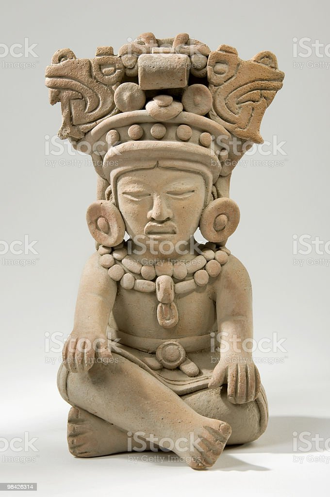 Mayan Clay Sculpture stock photo