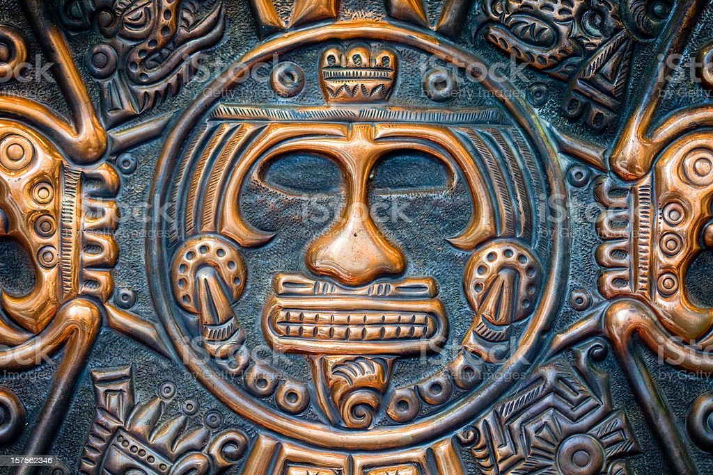 mayan face stock photo