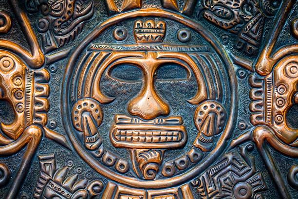 mayan face stock photo