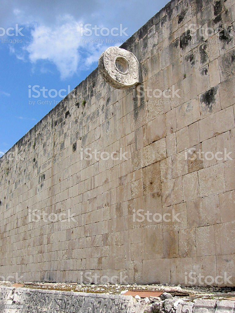 Mayan game court Chichen Itza​​​ foto