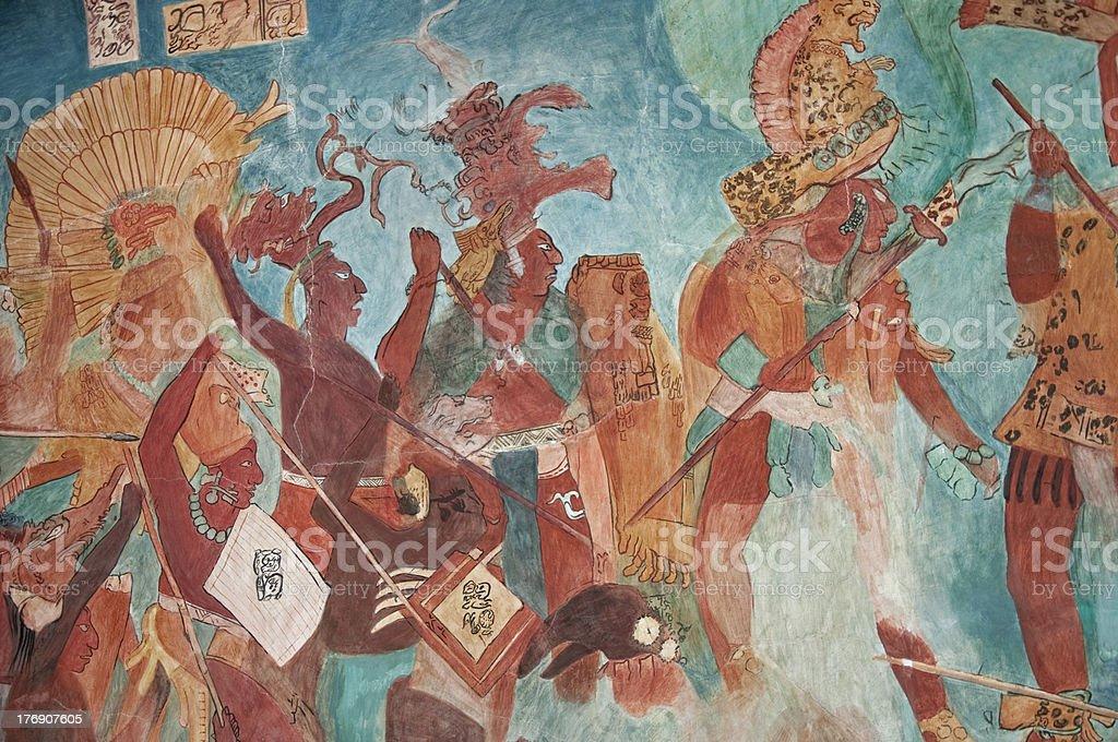 Maya Mural De Pintura De Bonampak 02 Foto De Stock Y Mas Banco De