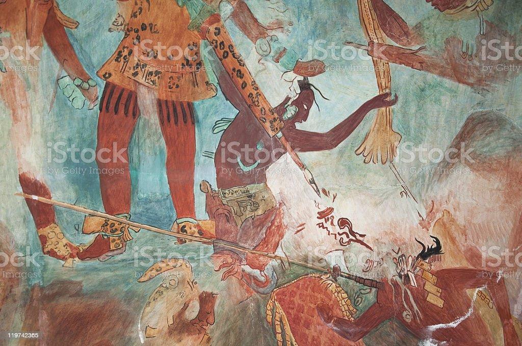 Maya Mural De Pintura De Bonampak Foto De Stock Y Mas Banco De