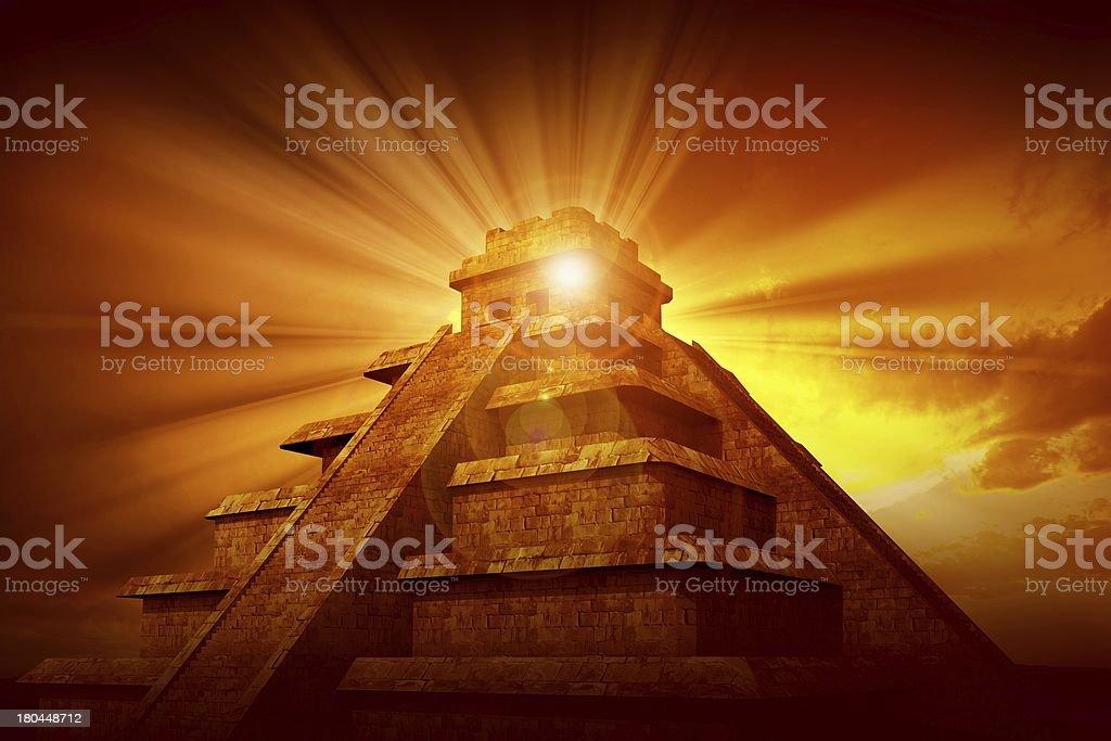 Mayan Mystery Pyramid royalty-free stock photo