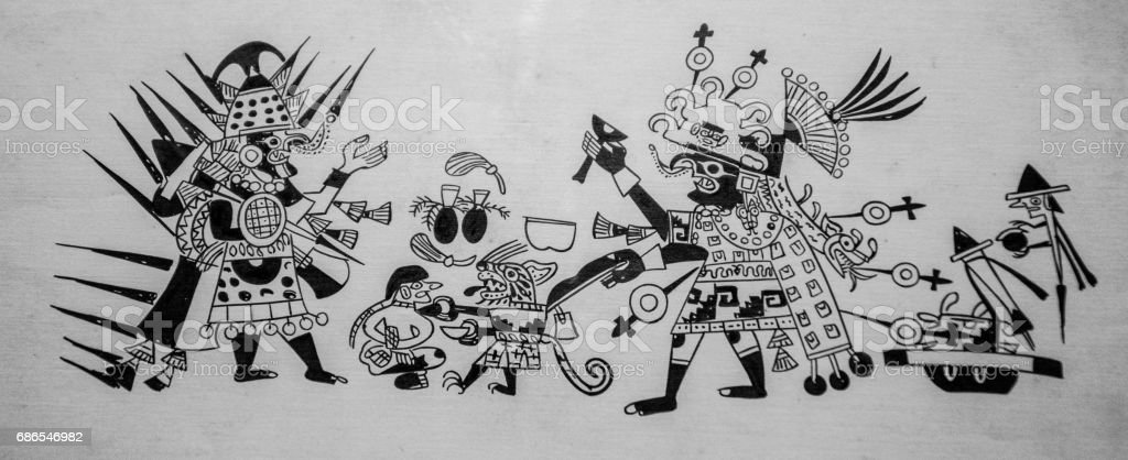 Mayan painting foto stock royalty-free