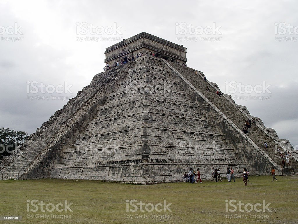 Mayan Pyramid 1 royalty-free stock photo