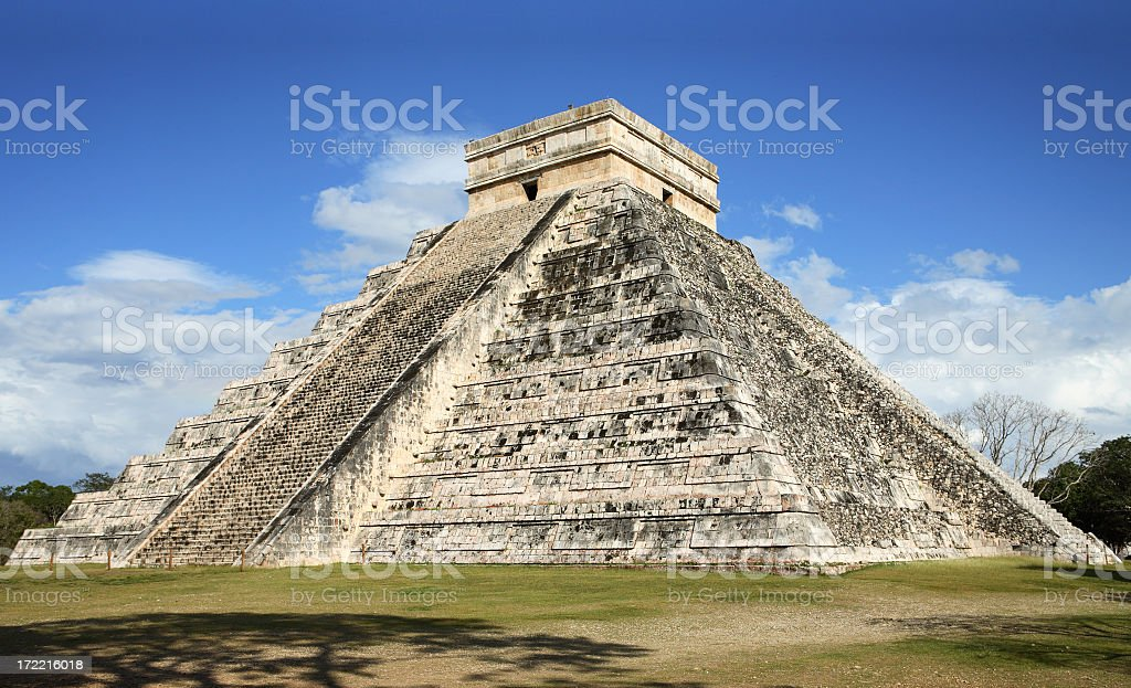 Mayan pyramid in Chichen Itza royalty-free stock photo