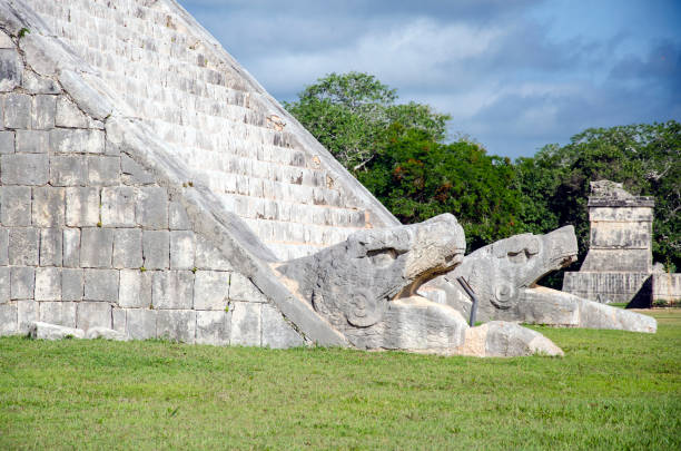 Mayan Pyramid in Chichen Itza Yucatan Mexico stock photo