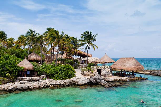 Mayan Riviera Paradise stock photo