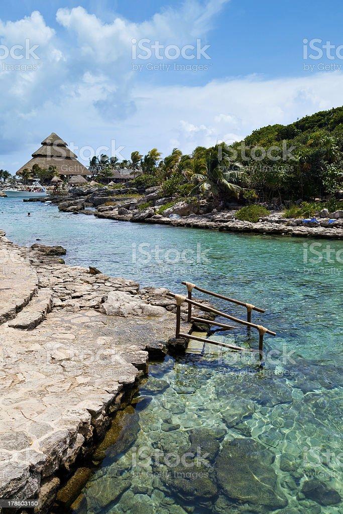 Mayan Riviera Paradise royalty-free stock photo