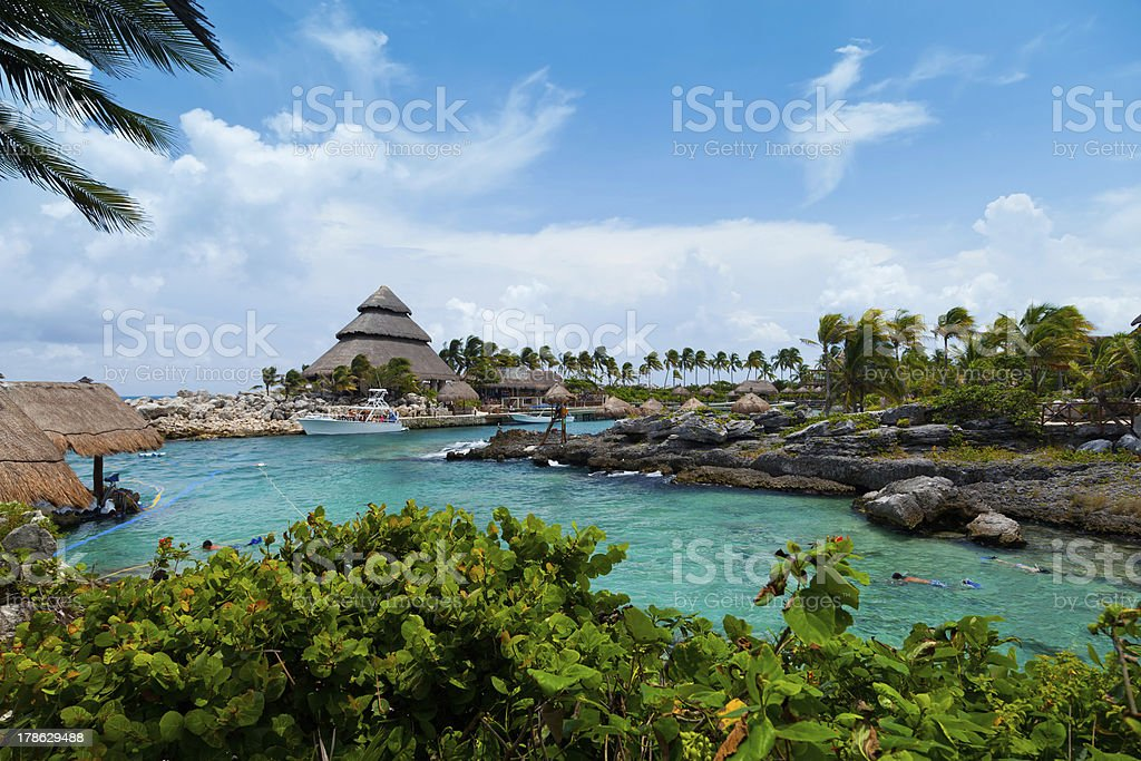 Mayan Riviera Paradise stock photo