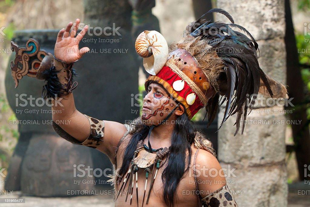 Mayan shaman stock photo