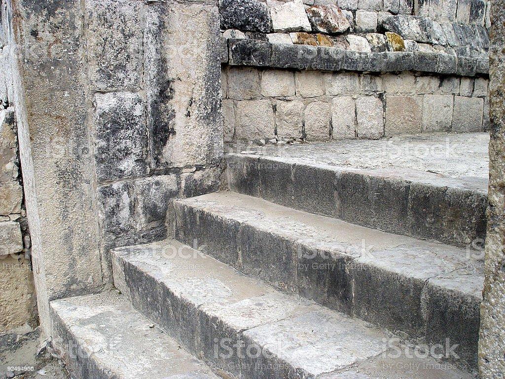 Mayan Stairway royalty-free stock photo